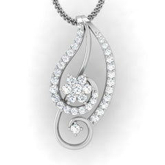 diamond studded gold jewellery - Ina Casual Pendant - Pristine Fire - 2