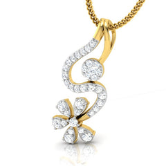 diamond studded gold jewellery - Ira Casual Pendant - Pristine Fire - 1
