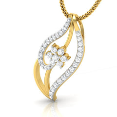 diamond studded gold jewellery - Iva Casual Pendant - Pristine Fire - 1