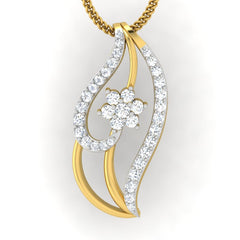 diamond studded gold jewellery - Iva Casual Pendant - Pristine Fire - 2