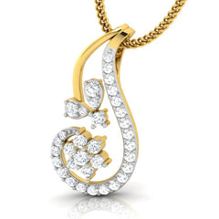 diamond studded gold jewellery - Kay Casual Pendant - Pristine Fire - 1