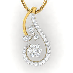 diamond studded gold jewellery - Kay Casual Pendant - Pristine Fire - 2