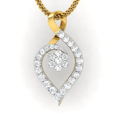 diamond studded gold jewellery - Kim Casual Pendant - Pristine Fire - 2
