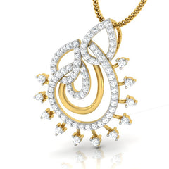 diamond studded gold jewellery - Liz Casual Pendant - Pristine Fire - 1