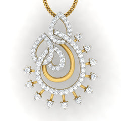 diamond studded gold jewellery - Liz Casual Pendant - Pristine Fire - 2