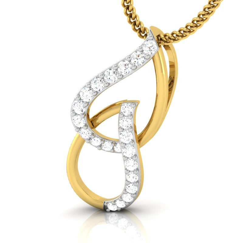 diamond studded gold jewellery - Meg Casual Pendant - Pristine Fire - 1