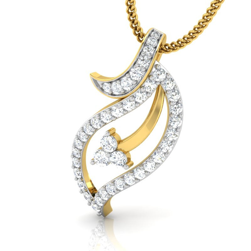 diamond studded gold jewellery - Mya Casual Pendant - Pristine Fire - 1