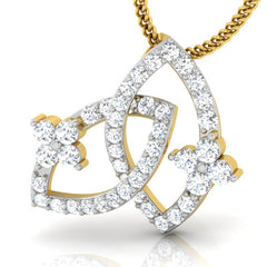 diamond studded gold jewellery - Ode Fashion Pendant - Pristine Fire - 1