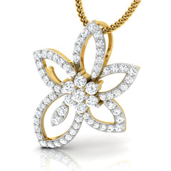 diamond studded gold jewellery - Ora Casual Pendant - Pristine Fire - 1