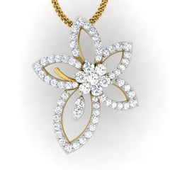 diamond studded gold jewellery - Ora Casual Pendant - Pristine Fire - 2