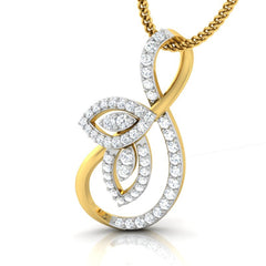 diamond studded gold jewellery - Ria Casual Pendant - Pristine Fire - 1