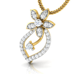diamond studded gold jewellery - Tia Casual Pendant - Pristine Fire - 1