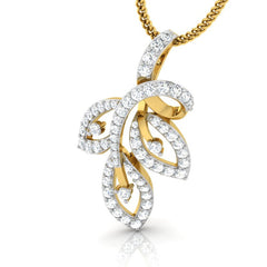 diamond studded gold jewellery - Viv Casual Pendant - Pristine Fire - 1