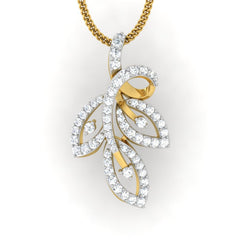 diamond studded gold jewellery - Viv Casual Pendant - Pristine Fire - 2