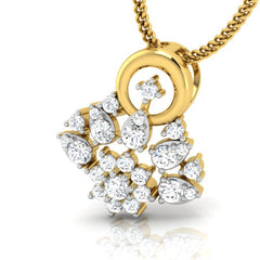 diamond studded gold jewellery - Aina Casual Pendant - Pristine Fire - 1
