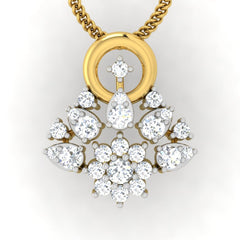 diamond studded gold jewellery - Aina Casual Pendant - Pristine Fire - 2