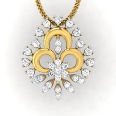 diamond studded gold jewellery - Alba Casual Pendant - Pristine Fire - 2
