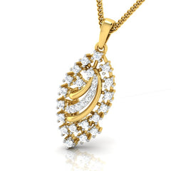diamond studded gold jewellery - Ally Casual Pendant - Pristine Fire - 1