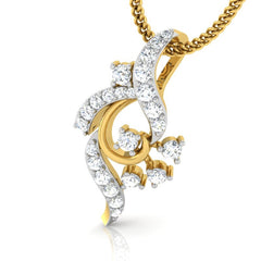 diamond studded gold jewellery - Amee Casual Pendant - Pristine Fire - 1