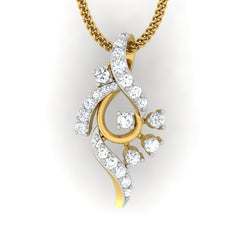 diamond studded gold jewellery - Amee Casual Pendant - Pristine Fire - 2