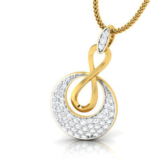 diamond studded gold jewellery - Anka Fashion Pendant - Pristine Fire - 1