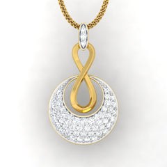diamond studded gold jewellery - Anka Fashion Pendant - Pristine Fire - 2