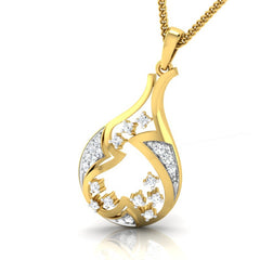 diamond studded gold jewellery - Anna Fashion Pendant - Pristine Fire - 1