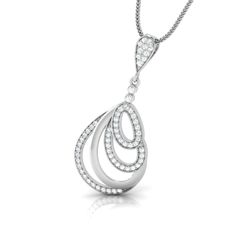 diamond studded gold jewellery - Aria Fashion Pendant - Pristine Fire - 1