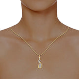diamond studded gold jewellery - Aroa Casual Pendant - Pristine Fire - 4