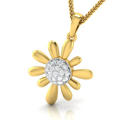 diamond studded gold jewellery - Arti Casual Pendant - Pristine Fire - 1