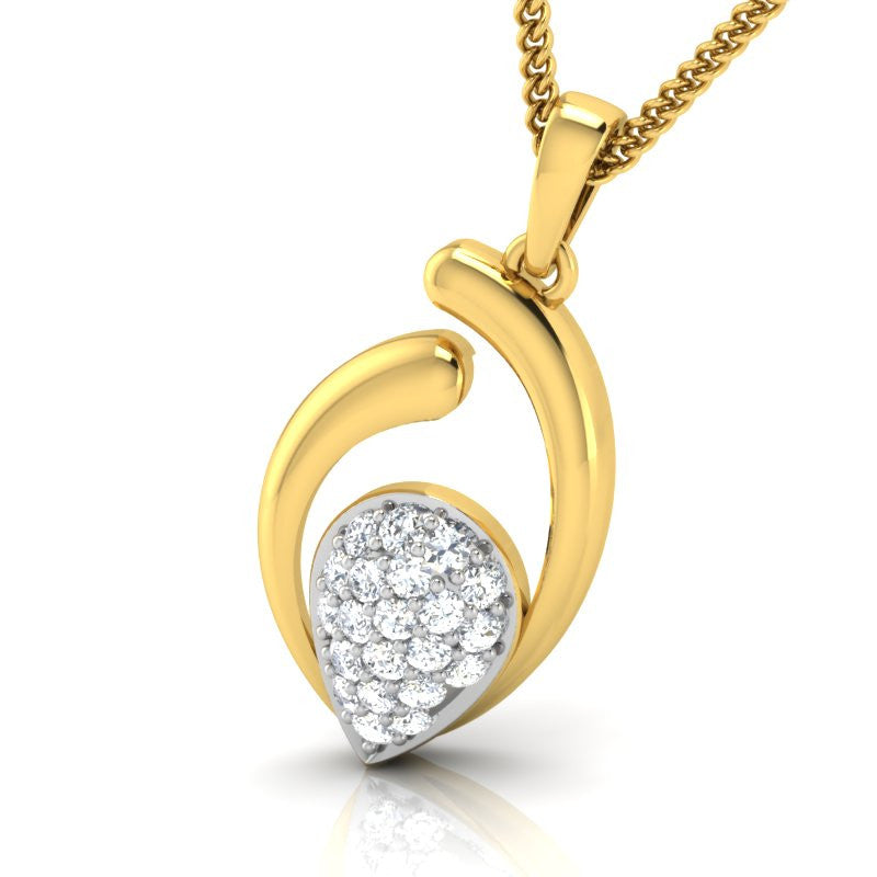 diamond studded gold jewellery - Avis Casual Pendant - Pristine Fire - 1