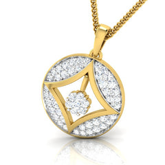 diamond studded gold jewellery - Azia Casual Pendant - Pristine Fire - 1
