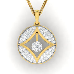 diamond studded gold jewellery - Azia Casual Pendant - Pristine Fire - 2