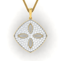 diamond studded gold jewellery - Dora Fashion Pendant - Pristine Fire - 2