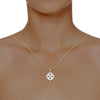 diamond studded gold jewellery - Dora Fashion Pendant - Pristine Fire - 4