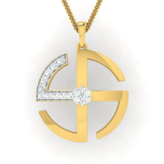 diamond studded gold jewellery - Ella Fashion Pendant - Pristine Fire - 2
