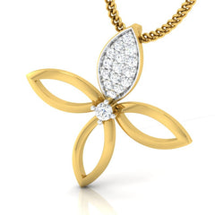 diamond studded gold jewellery - Elly Casual Pendant - Pristine Fire - 1