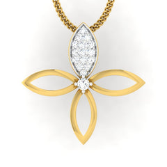 diamond studded gold jewellery - Elly Casual Pendant - Pristine Fire - 2