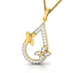 diamond studded gold jewellery - Elva Casual Pendant - Pristine Fire - 1