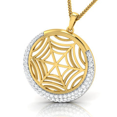 diamond studded gold jewellery - Faye Fashion Pendant - Pristine Fire - 1