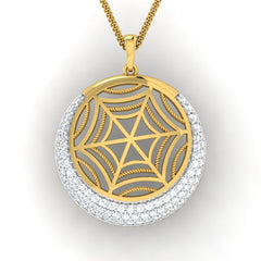 diamond studded gold jewellery - Faye Fashion Pendant - Pristine Fire - 2