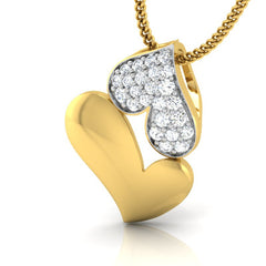 diamond studded gold jewellery - Gena Fashion Pendant - Pristine Fire - 1