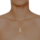 diamond studded gold jewellery - Hiba Casual Pendant - Pristine Fire - 4