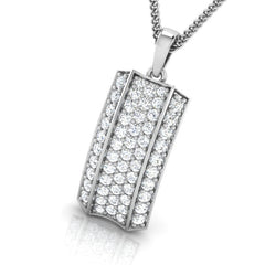 diamond studded gold jewellery - Acacia Fashion Pendant - Pristine Fire - 1
