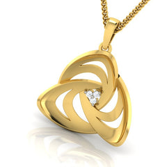 diamond studded gold jewellery - Adelina Fashion Pendant - Pristine Fire - 1