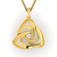 diamond studded gold jewellery - Adelina Fashion Pendant - Pristine Fire - 2