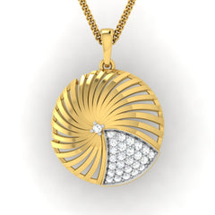 diamond studded gold jewellery - Adoncia Fashion Pendant - Pristine Fire - 2