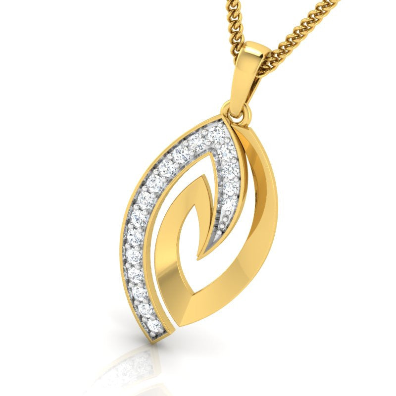 diamond studded gold jewellery - Tracey Fashion Pendant - Pristine Fire - 1