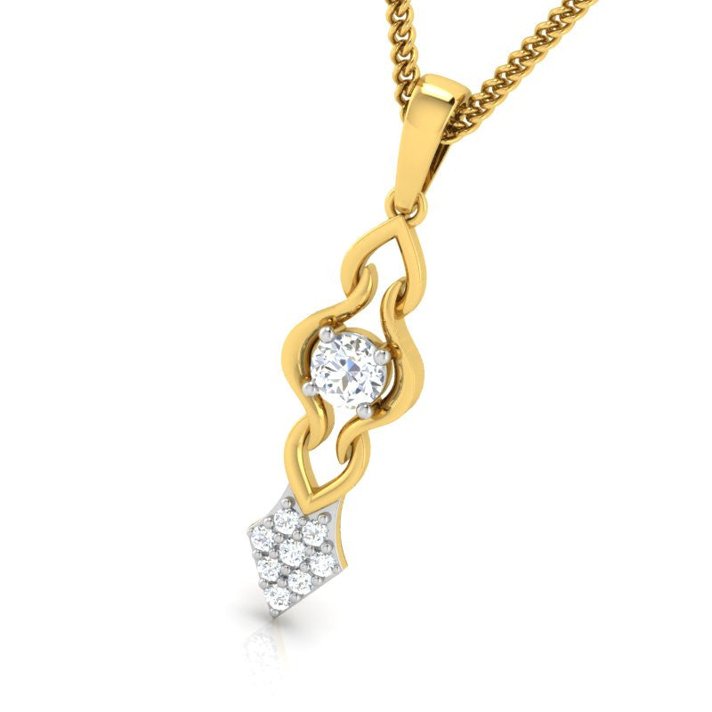 diamond studded gold jewellery - Triana Fashion Pendant - Pristine Fire - 1