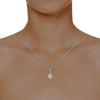 diamond studded gold jewellery - Troya Fashion Pendant - Pristine Fire - 4